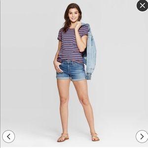 Striped Short Sleeve Crewneck T-Shirt